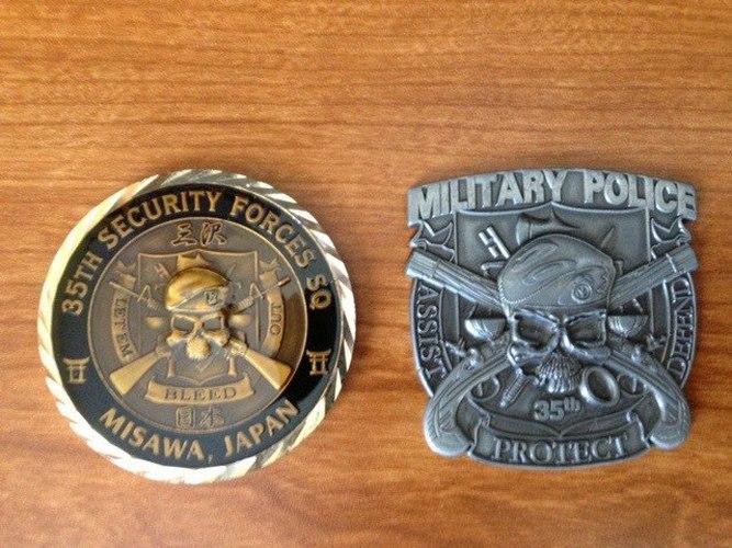 Custom Police Challenge Coins | Custom Police Badges | Military