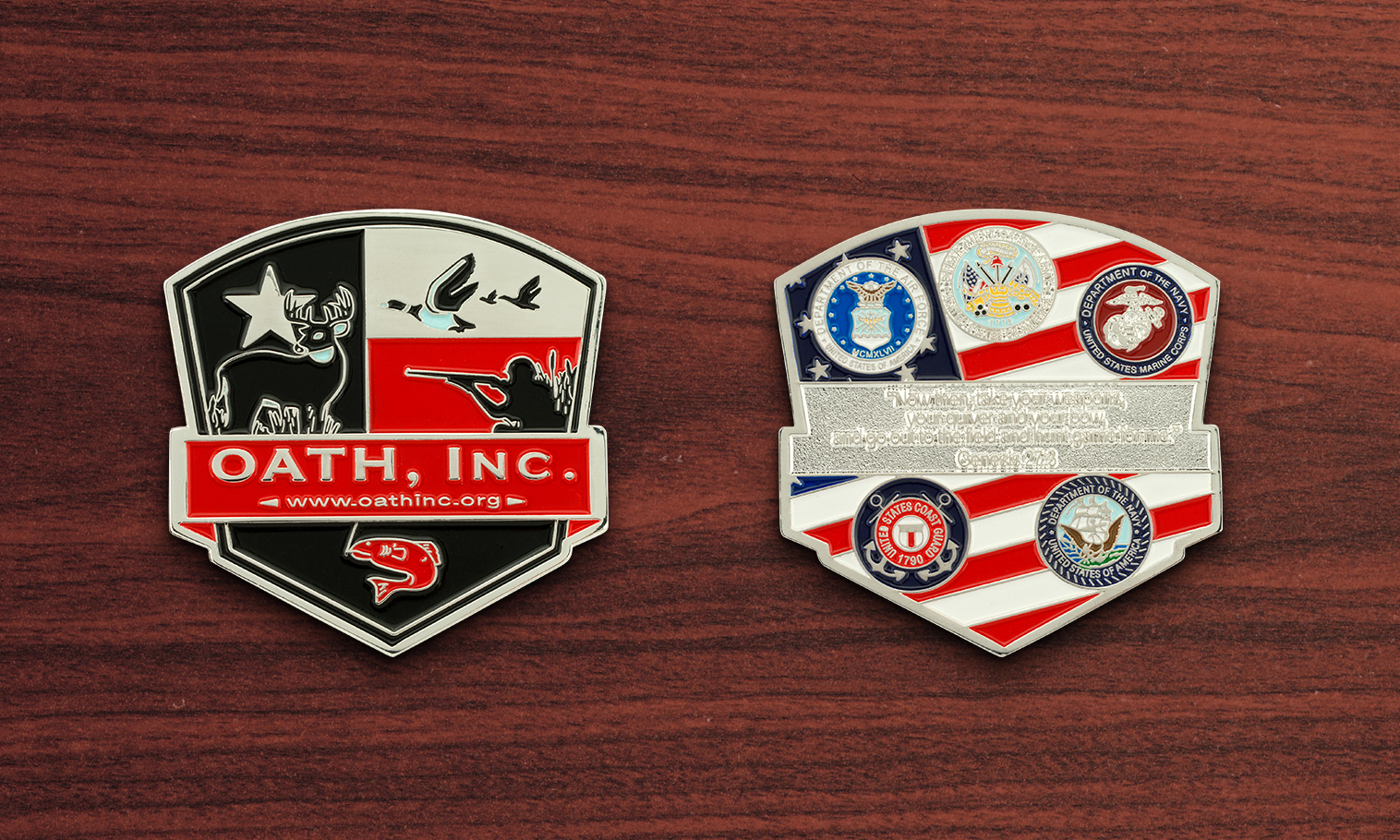Custom Corporate Challenge Coins - U S  DOD Coins