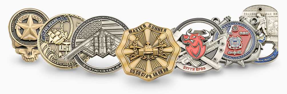 Challenge Coins Collage
